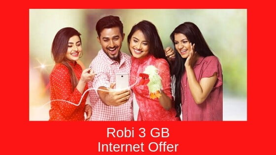 Robi 3 GB Internet Offer at 48 tk – [3 Days Travel Pack]