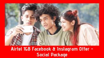 Airtel BD 1GB Facebook & Instagram Offer - Social Package