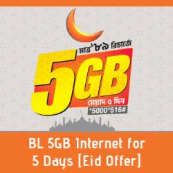 BL 5GB Internet for 5 Days [Eid Offer]