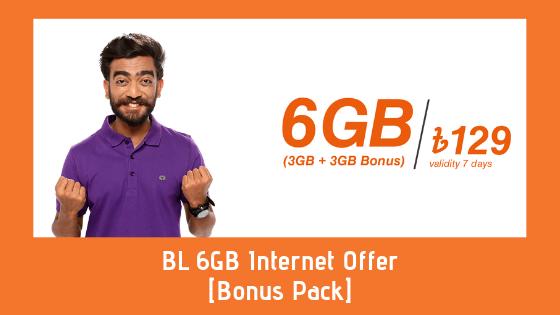 BL 6GB Internet Offer [Bonus Pack]