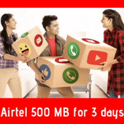 Airtel 500 MB for 3 days
