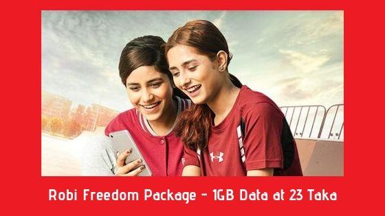 Robi Freedom Package - 1GB Data at 23 Taka