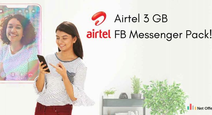 Airtel 3 GB FB Messenger Pack