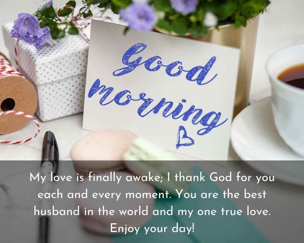 Best Romantic Good Morning SMS for Husband